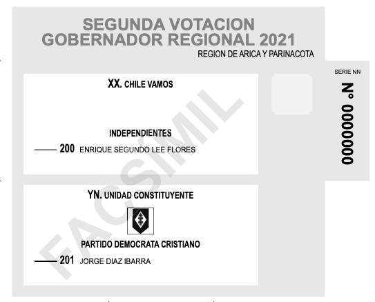 Voto de gobernadores regionales Arica y Parinacota