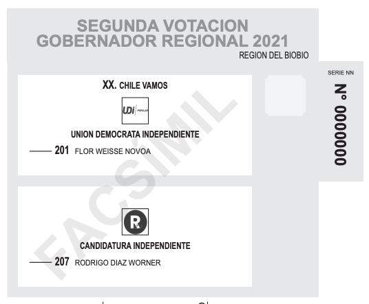Voto de gobernadores regionales Biobío
