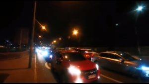 Conductores realizaron caravana en dirección al Congreso por alza en precios de combustibles y alimentos