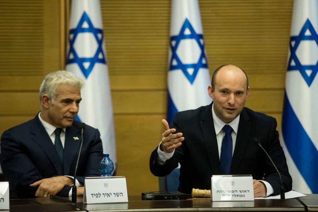 Yair Lapid y Naftali Bennett