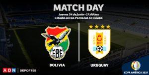 EN VIVO | Bolivia y Uruguay chocan por la cuarta jornada del Grupo A de la Copa América 2021