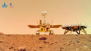 Agencia de China publicó imágenes de su robot en la superficie de Marte