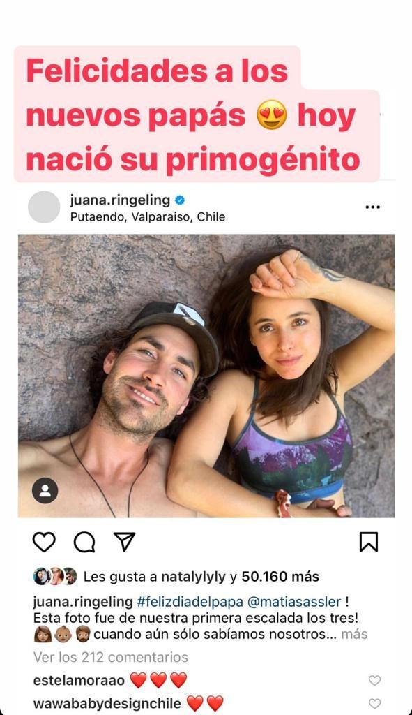 Cecila Gutiérrez confirma nacimiento de hijo de Juanita Ringeling y Matías Assler