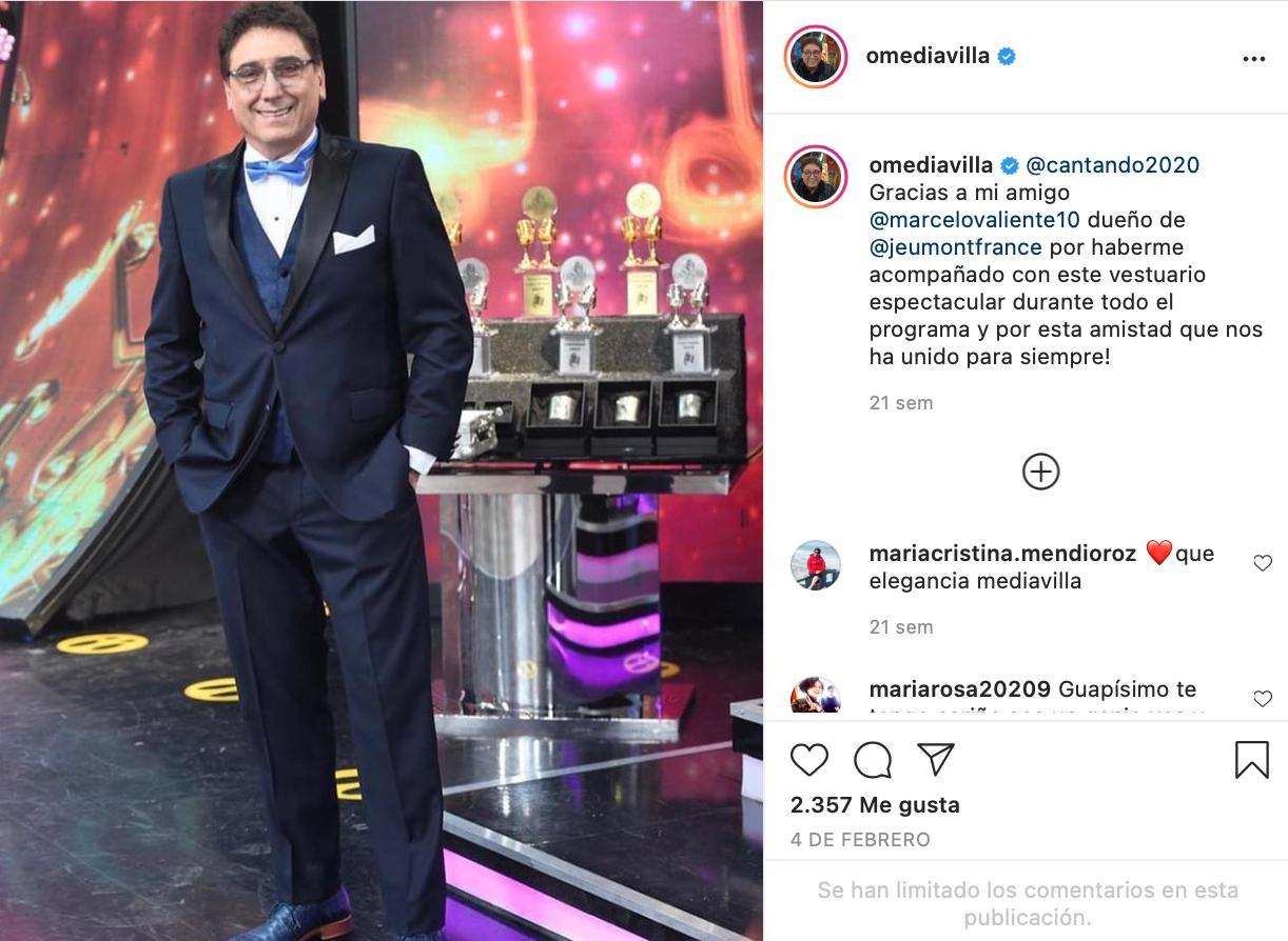 Oscar Mediavilla en Instagram