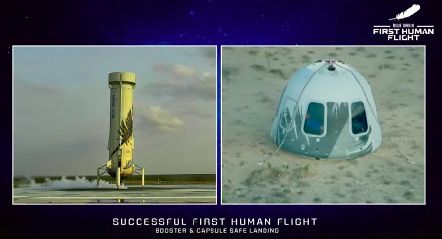 Primer vuelo de Blue Origin al espacio