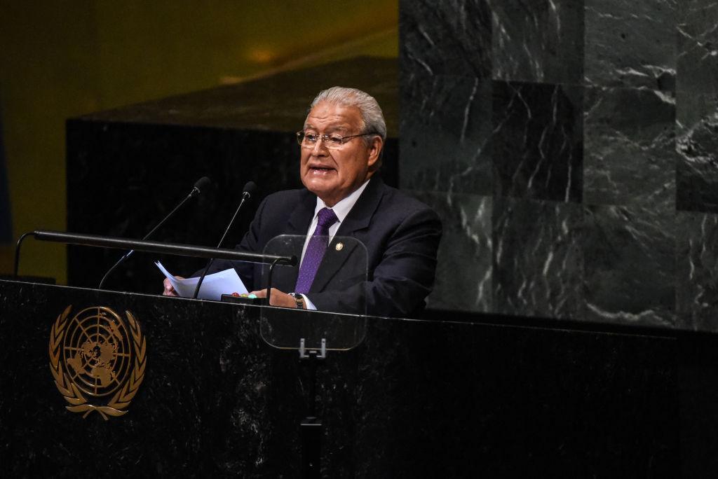 Sánchez Cerén ante la asamblea de las Naciones Unidas en Nueva York