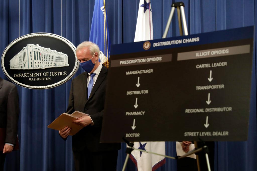 Departamento de justicia de EEUU señala los esquemas de venta de opioides