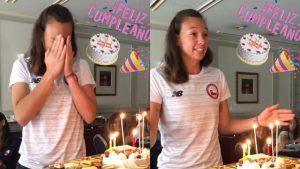 ¡Celebra la capitana!: Christiane Endler festeja su cumpleaños en Sapporo junto al plantel de La Roja Femenina