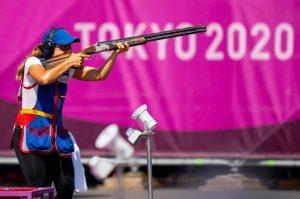 Francisca Crovetto quedó en el penúltimo puesto del Tiro Skeet olímpico