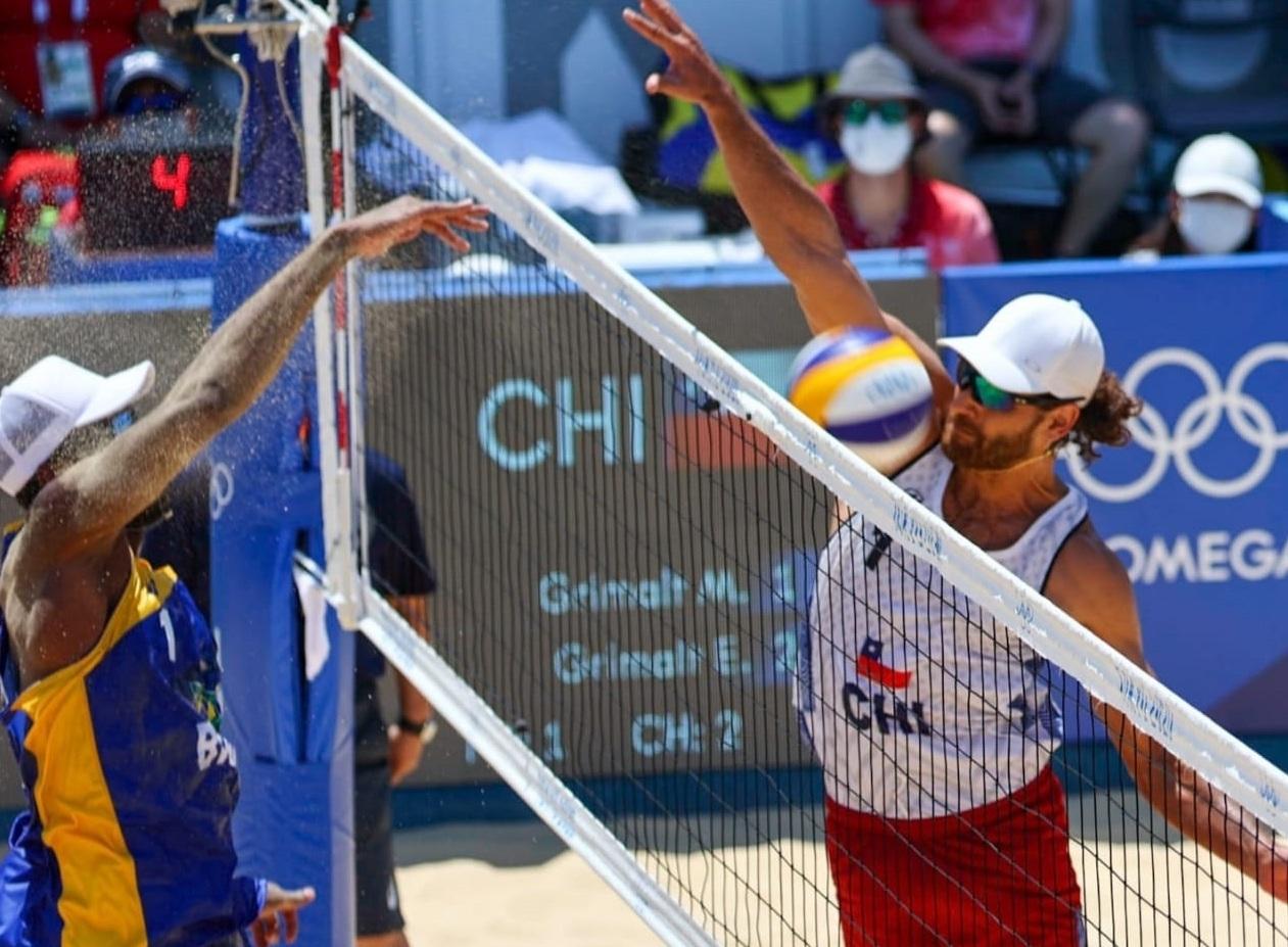 Los primos Marco y Esteban Grimalt cayeron luchando en el vóleibol de playa olímpico con Brasil