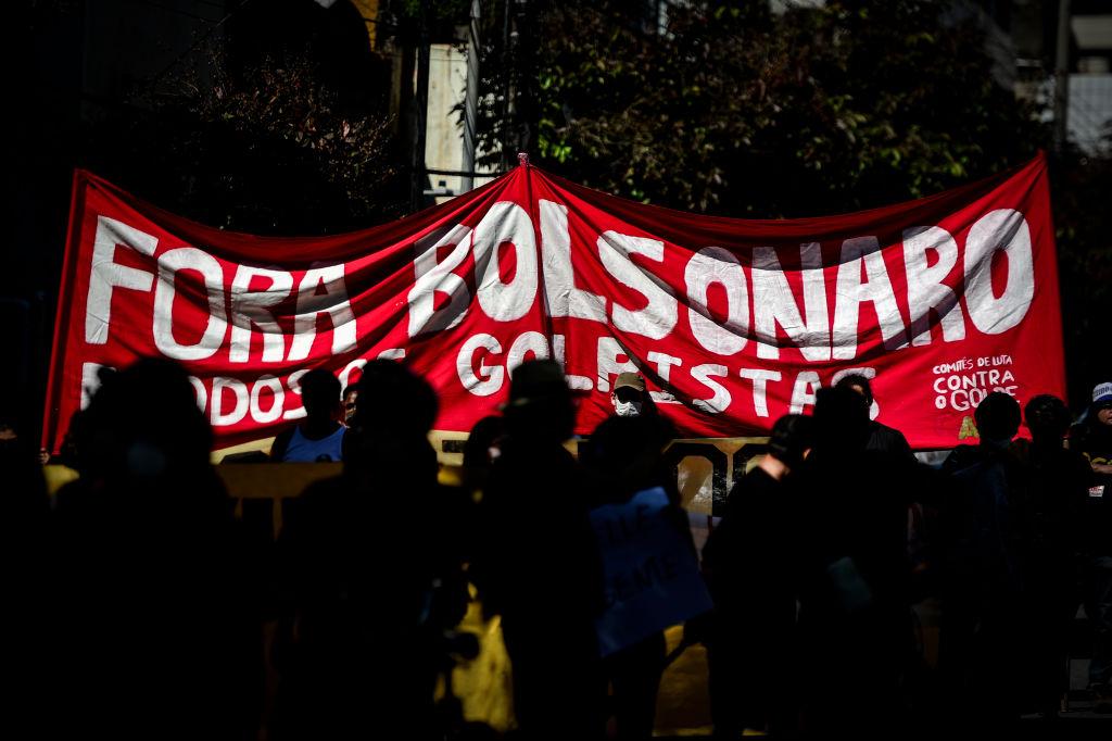 Manifestación en contra de Bolsonaro en la ciudad de Belo Horizonte