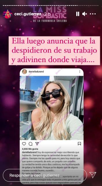 Captura de Instagram Cecilia Gutierrez