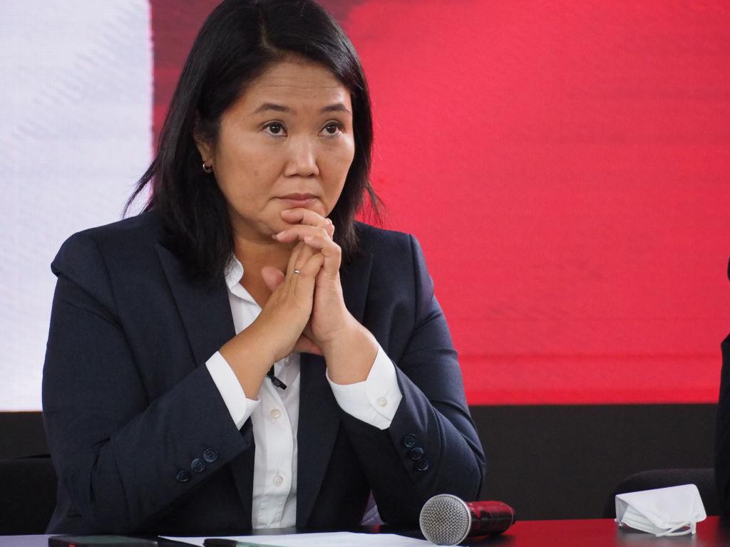 Keiko Fujimori durante su tercera derrota electoral a la presidencia en 2021