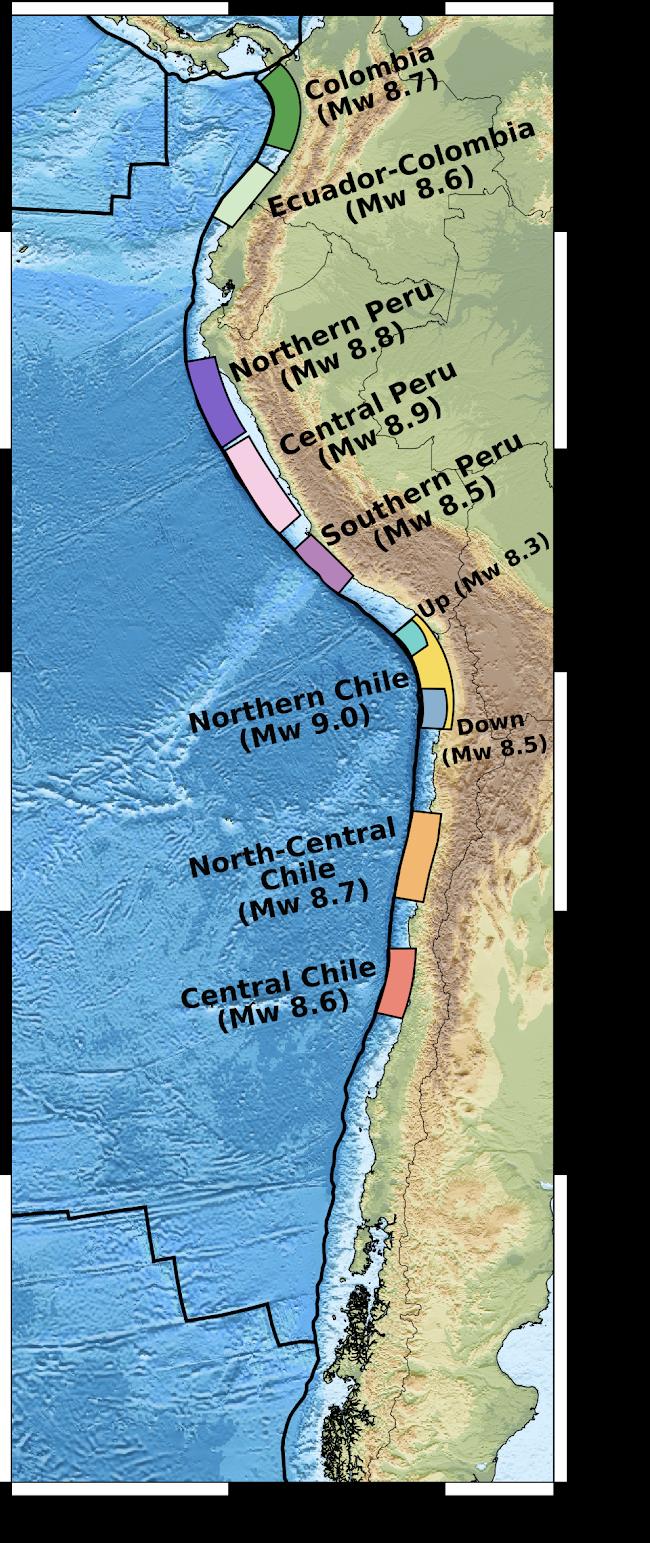 Mapa de zonas gap.