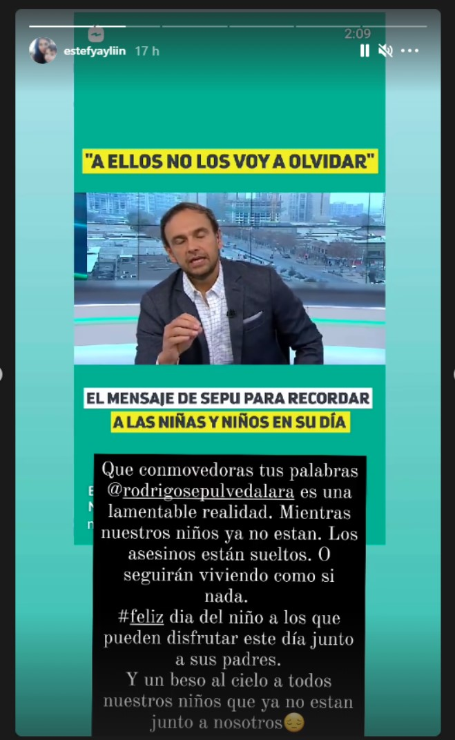 Mensaje de Estefanía Gutiérrez en el Día del Niño