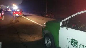 Un muerto y un herido de gravedad dejó accidente de tránsito en acceso sur de San Bernardo