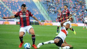 Gary Medel completó su quinto partido en cinco fechas del Calcio con Bologna