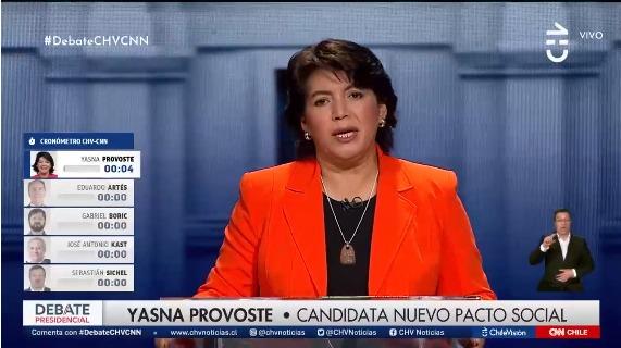 """""""Lapsus"""" de Yasna Provoste en debate presidencial televisivo generó ola de memes y comentarios"""