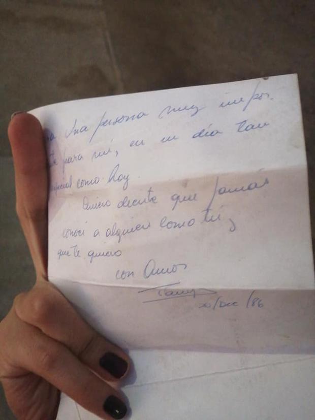Carta escrita por Sandra Álvarez