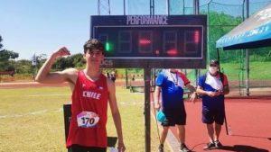 Pablo Frutos obtuvo medalla de oro en el Sudamericano Sub 18 de Atletismo