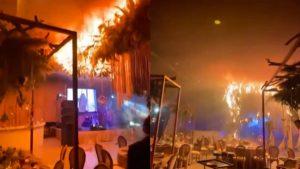 Viral: usaron pirotecnia en la boda y la fiesta terminó en un incendio