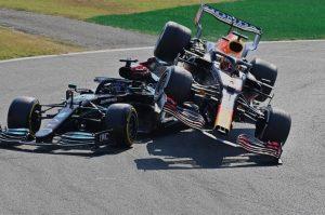 Fórmula 1: sancionan a Max Verstappen por choque con Lewis Hamilton en Italia
