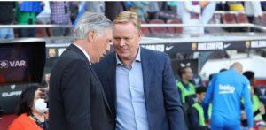 Revelan lo que le dijo Ancelotti a Koeman al oído tras el derby de España entre el Barcelona y el Real Madrid