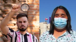 """Candidatos Fabiola Campillai y César Leiva calificaron como """"injusto y abusivo"""" los 0,1 segundos que tendrán en la franja televisiva"""