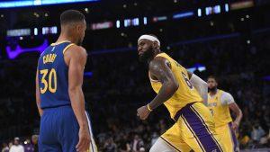 NBA: Lakers con LeBron James en cancha no pudo ante los Warriors en el inicio de la temporada