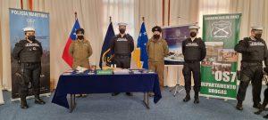 Operativo de la Armada y Carabineros desarticuló red de tráfico de drogas en puerto de Punta Arenas