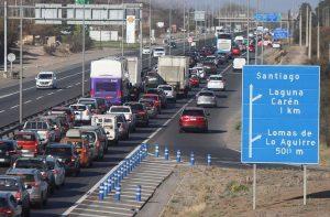 Fin de semana con dos feriados: las medidas que habrá en las carreteras de salida de la Región Metropolitana